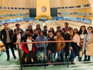 Students at the UN Assembly